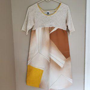 M Missoni Abstract Print Shift Dress Size 6 NWT